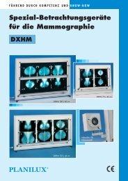 Spezial-Betrachtungsgeräte für die Mammographie DXHM - Planilux