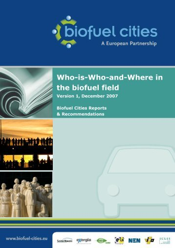 Who-is-Who-and-Where in the biofuel field - Biofuel Cities