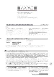 1 Termine und Hinweise zum Jahresende 2011 - wapag.de