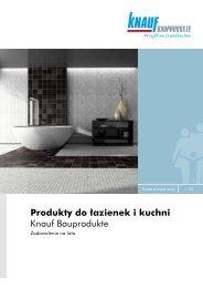Produkty do łazienek i kuchni Knauf Bauprodukte