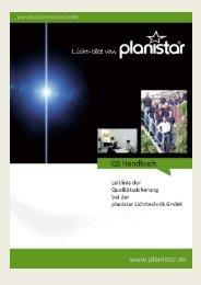 QS-Handbuch zum Download - planistar Lichttechnik GmbH