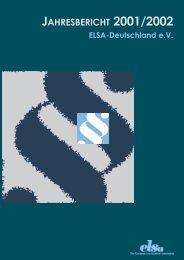 Jahresbericht 2001/2002 - ELSA Germany