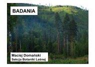 Maciej Domanski Badania, Wyprawa badawcza Sekcji Botaniki ...