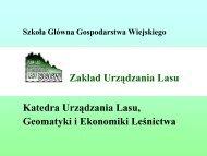 Zakład Urządzania Lasu - Stary serwis Wydziału Leśnego SGGW