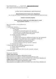 PORADNIK do realizacji projektu 2011 - Stary serwis Wydziału ...