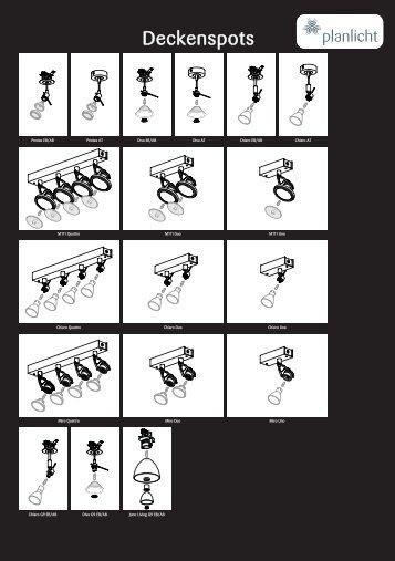 Deckenspots - Planlicht