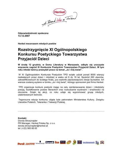 Informacja Prasowa Pdf Henkel