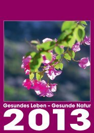 Gesundes Leben – Gesunde Natur