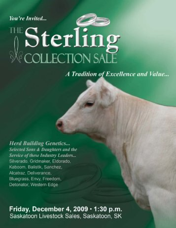 """""""Sterling Collection"""" Flush Offering... - Charolais Banner"""