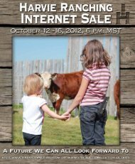 Click Here to View Catalog - Harvie Ranching