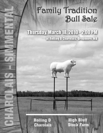 Family Tradition Bull Sale - a - Charolais Banner