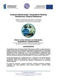 Instytut Meteorologii i Gospodarki Wodnej - klimat