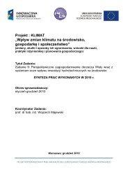 Raport Zadanie 9 - klimat - Instytut Meteorologii i Gospodarki Wodnej