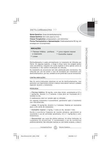 Dietilcarbamazina, citrato - Farmanguinhos - Fiocruz