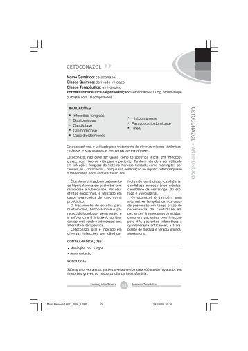 Cetoconazol - Farmanguinhos - Fiocruz
