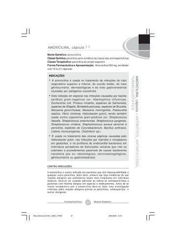 Amoxicilina, triidratada - Farmanguinhos - Fiocruz
