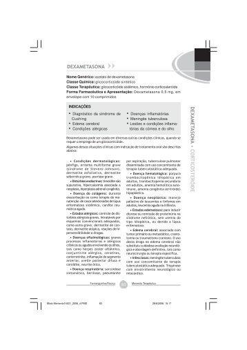 Dexametasona, acetato(comprimido) - Farmanguinhos - Fiocruz