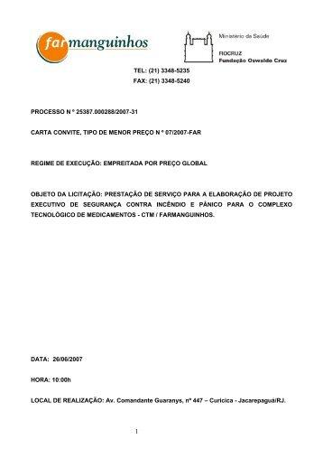 TELEFAX N - Farmanguinhos - Fiocruz