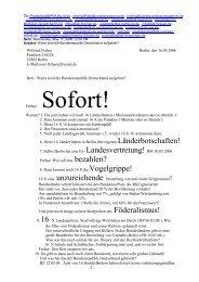 Wilfried Frehse Berlin, den 16.05.2006 Postfach 210224 10502 ...