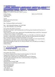 Wilfried Frehse Berlin, den 30.09.2008 Postfach ... - Bplaced.net