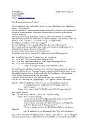 Wilfried Frehse Berlin, den 07.09.2006 Postfach 210224 10502 ...