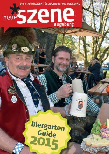 Biergarten-Guide Augsburg 2015