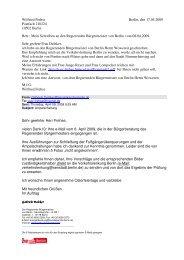 Mein Schreiben an den Regierenden Bürgermeister - Bplaced.net