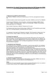 Protokoll 34. GV / 2003 - UHF-Gruppe der USKA