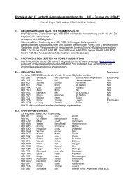 Protokoll GV 2006 - UHF-Gruppe der USKA