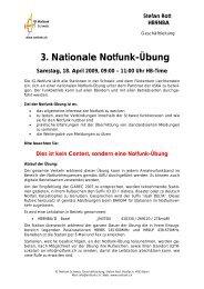 3. Nationale Notfunk-Übung