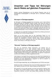 Stoerungen durch Relais auf gleichen Frequenzen - UHF-Gruppe ...