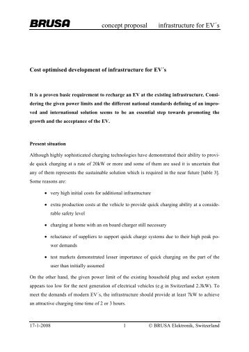 concept proposal infrastructure for EV´s - Park & Charge