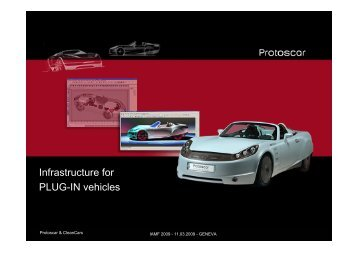 Infrastructure for PLUG-IN vehicles - Park & Charge