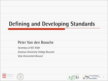 Defining and Developing Standards - Park & Charge