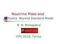 Theories beyond the Standard Model - PPC 2010