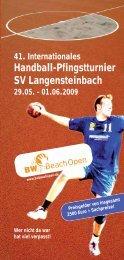 41. Internationales Handball-Pfingstturnier SV Langensteinbach ...