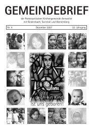 Gemeindebrief Dezember 2007 - Kirche Annweiler