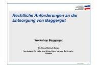 Rechtliche Anforderungen an die Entsorgung von Baggergut