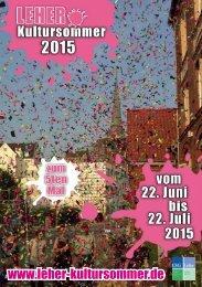 Leher Kultursommer 2015 - Das ganze Programm