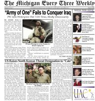 """""""Army of One"""" Fails to Conquer Iraq - University Activities Center"""