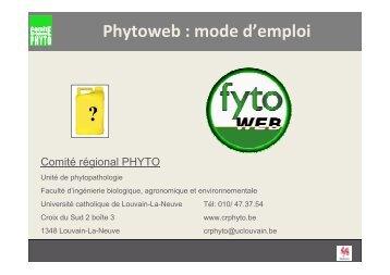 Phytoweb - Comité régional PHYTO