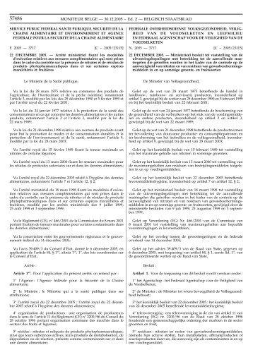 M.B. van 22/12/2005 - Favv