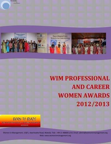 Sponsor Proposal - Women in Management
