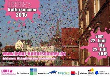 """Plakat """"Leher Kultursommer 2015"""""""