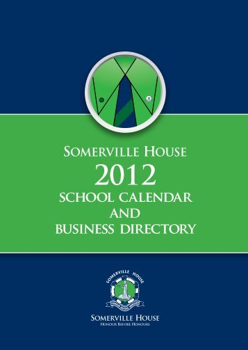 school calendar and business directory - Somerville House