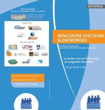 Rencontre docteurs entreprises montpellier