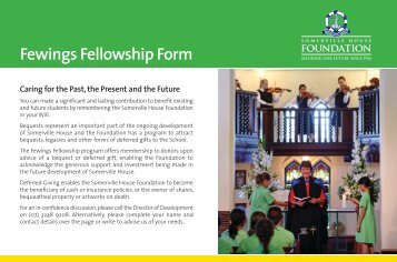 Fewings Fellowship Form - Somerville House