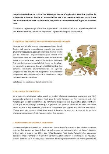 Le règlement CE 1107/2009 en quelques mots