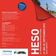 21. B IS 30. S E P T E M B E R 2012 - HESO Solothurn