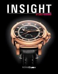 "Magazine ""Insight"" No.6 (PDF) - Carl F. Bucherer"